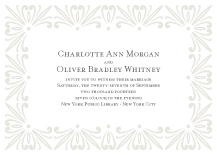 Wedding Invitations - classic revival