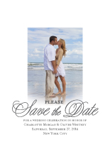 Save the Date Card with photo - classic revival