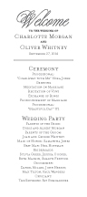 Wedding Program - classic revival