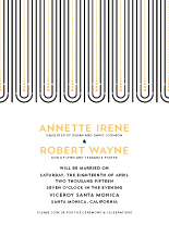 Wedding Invitations - deco noir