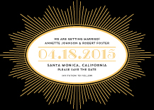 Save the Date Card - deco noir