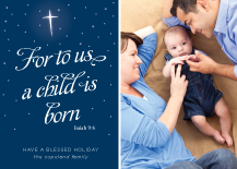 Christmas Cards - peaceful child