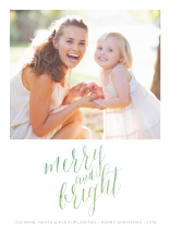 Holiday Cards - watercolor merry and bright