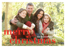 Christmas Cards - big letters