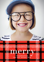 Christmas Cards - dotted plaid