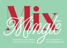 Holiday Party Invitations - mix & mingle