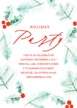 Holiday Party Invitations - holly day party