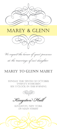 Wedding Invitations - He and She