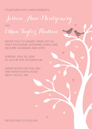 Wedding Invitations - Love Birds