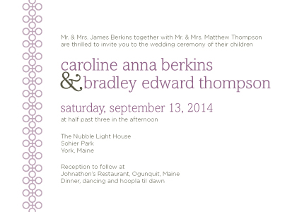 Wedding Invitations - Modern Love