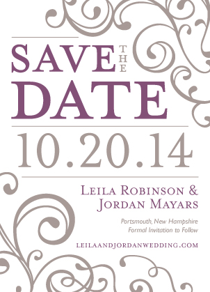 Save the Date Card - Happiness & Joy