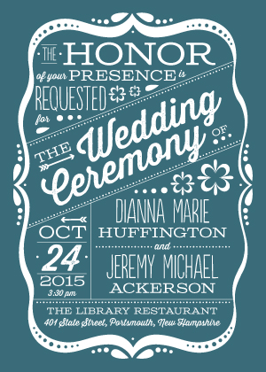 Wedding Invitations - Framed Love