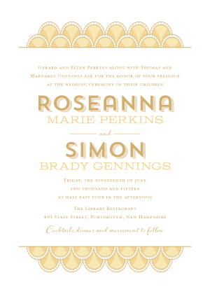 Wedding Invitations - Art Deco Scales
