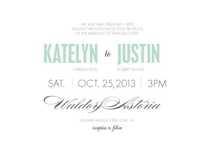 Wedding Invitations - The Grand Event