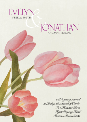 Save the Date Card - Fresh Tulips