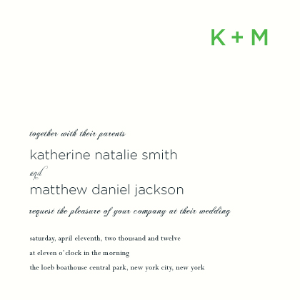 Wedding Invitations - Lattice
