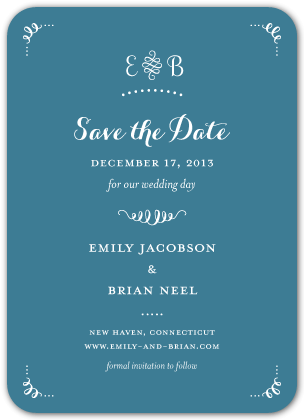 Save the Date Card - Head Over Heels