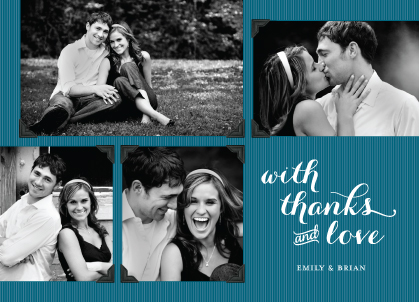 Wedding Thank You Card with photo - Head Over Heels