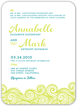 Wedding Invitations - Rolling Waves
