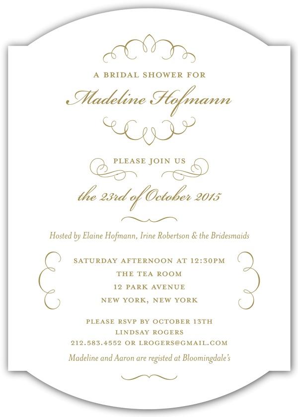 Love letter calligraphy wedding shower invitation