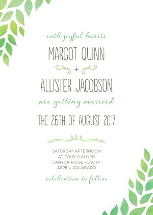 Wedding Invitations - Back to Nature