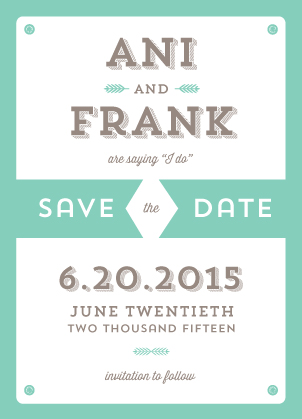 Save the Date Card - It is Official