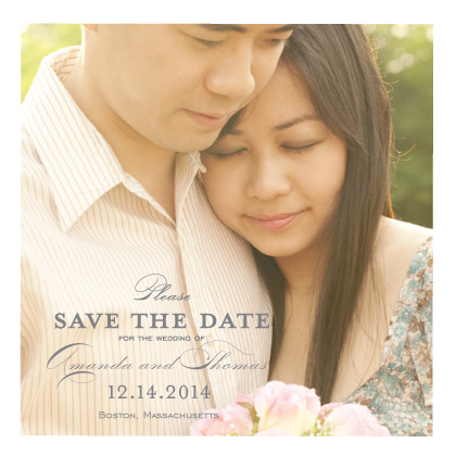 Save the Date Card with photo - Starburst Jewel