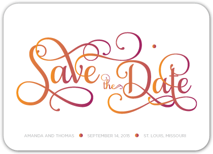 Save the Date Card - In Harmony