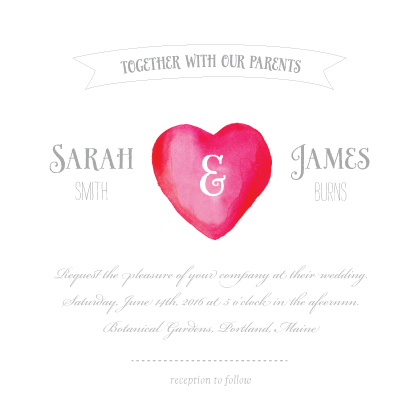 Wedding Invitations - I Heart