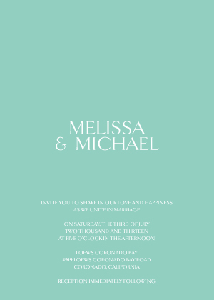 Wedding Invitations - Sentimental