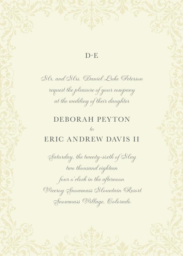 Brocade Border - Wedding Invitations | Kleinfeld Paper
