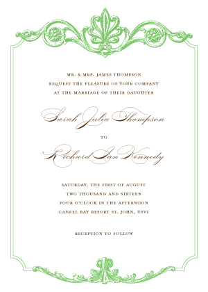 Wedding Invitations - Victorian Scrolls