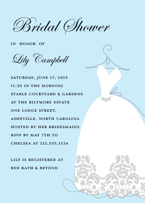 Wedding Shower Invitation - Lace Dress