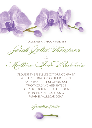 Wedding Invitations - Artistic Orchid
