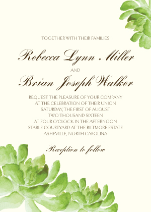 ... fast turnaround home wedding stationery wedding invitations cactus