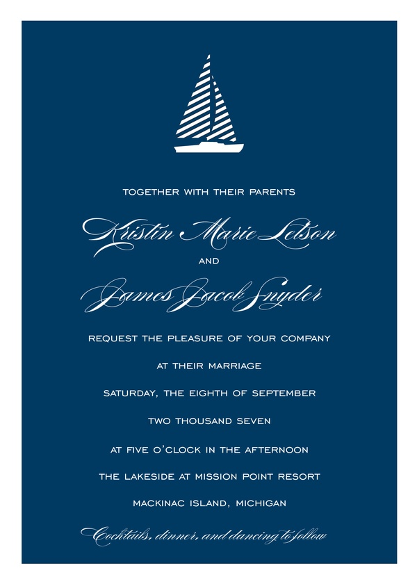 Freeport Sailboat - Wedding Invitations | Kleinfeld Paper