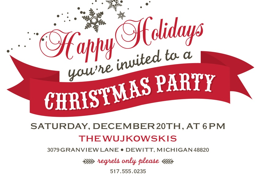 Snowflake Christmas Party - Holiday Party Invitations | Kleinfeld Paper