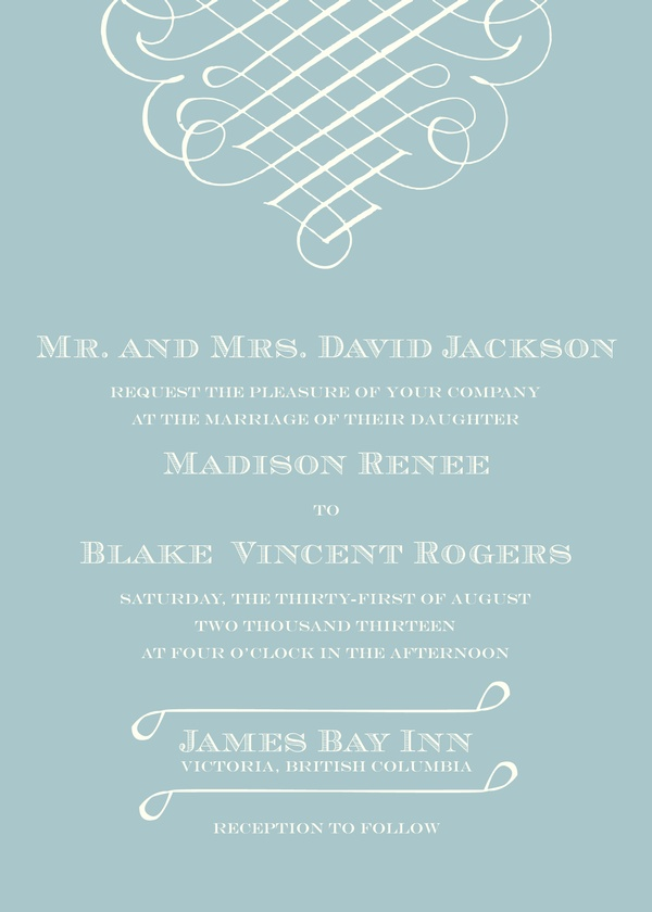 Calligraphic Flourish - Wedding Invitations | Kleinfeld Paper
