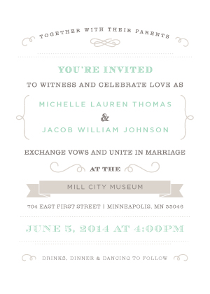 Wedding Invitations - Vintage Beauty