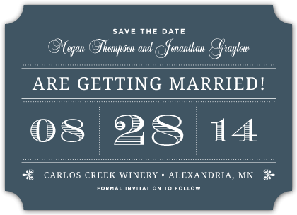 Save the Date Card - Modern Meets Vintage