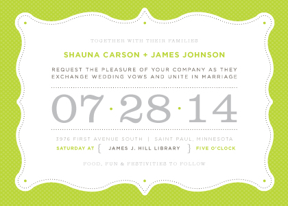 Wedding Invitations - Modern Dots