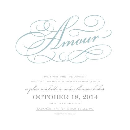 Wedding Invitations - French Flourishes