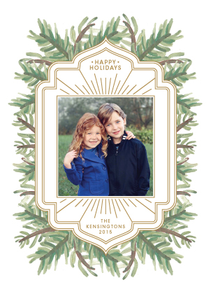 Holiday Cards - Gilded Pines