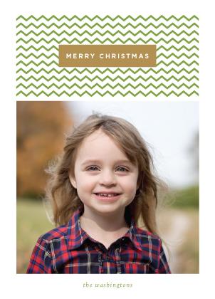 Christmas Cards - Festive Chevron